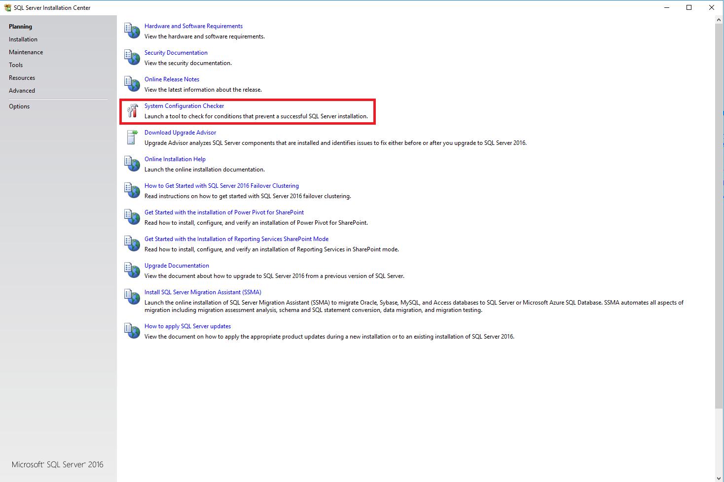SQL Server installation planning