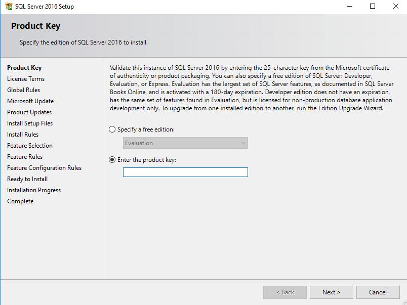 SQL Server licentiesleutel