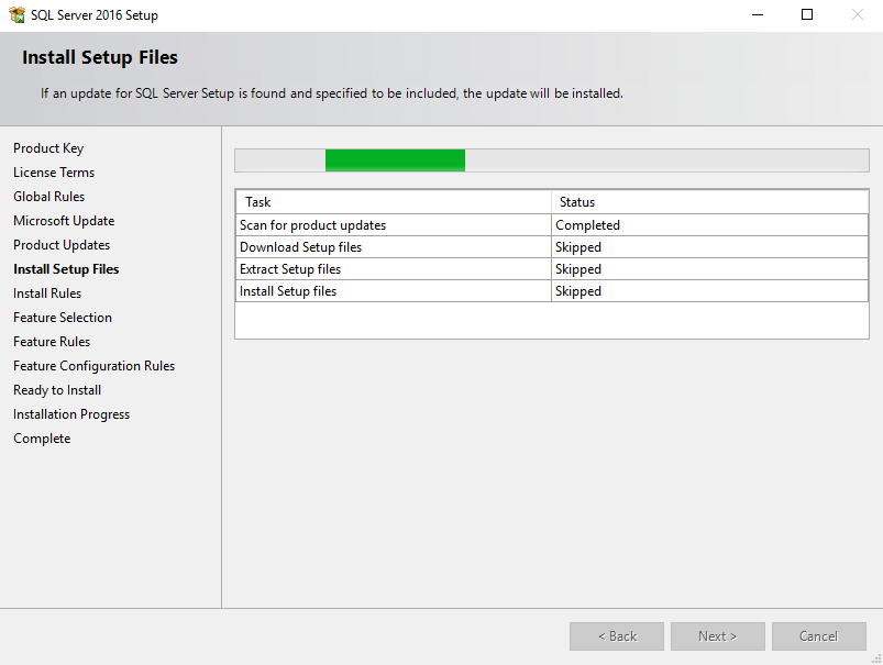 SQL Server installation install setup files