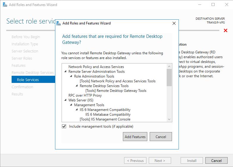 I'd like to install Microsoft Remote Desktop Servi…   TransIP