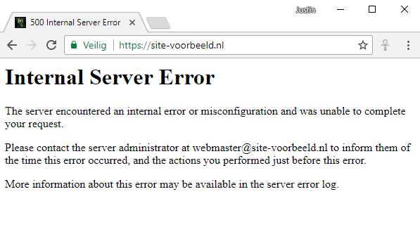 voorbeeld 500 error htaccess