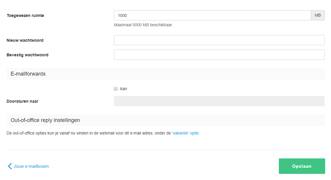 Pas het wachtwoord van je e-mailadres aan