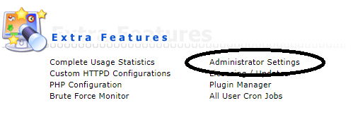 DA admin settings