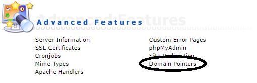 DirectAdmin domain pointers