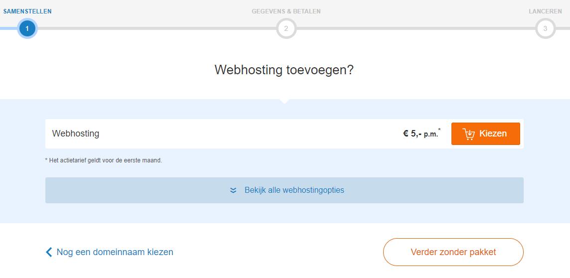 Kies nu je webhostingpakket uit