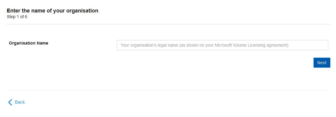 organisation name