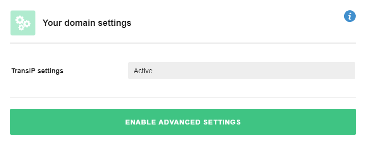 Enable advanced settings