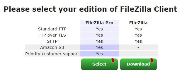 Kies hier 'Filezilla'
