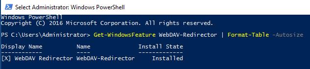 Get-WebDAV-Redirector
