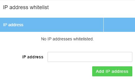 IP address whitelist API