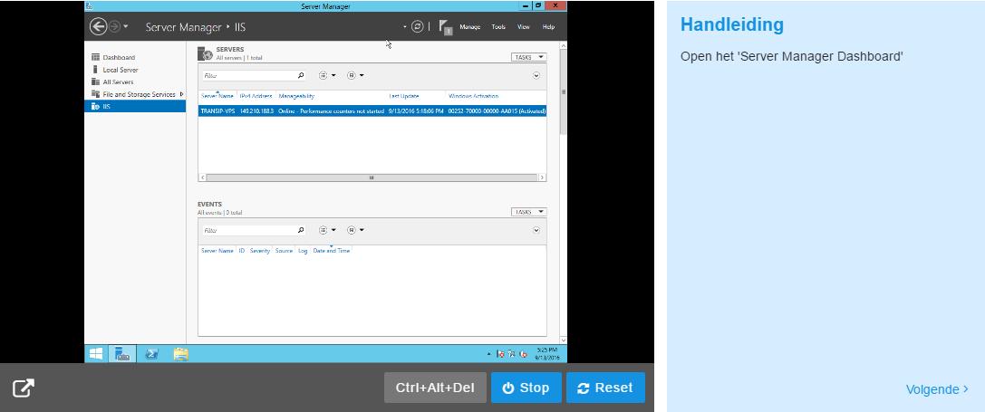 Installation Wizard Windows VPS mailservice