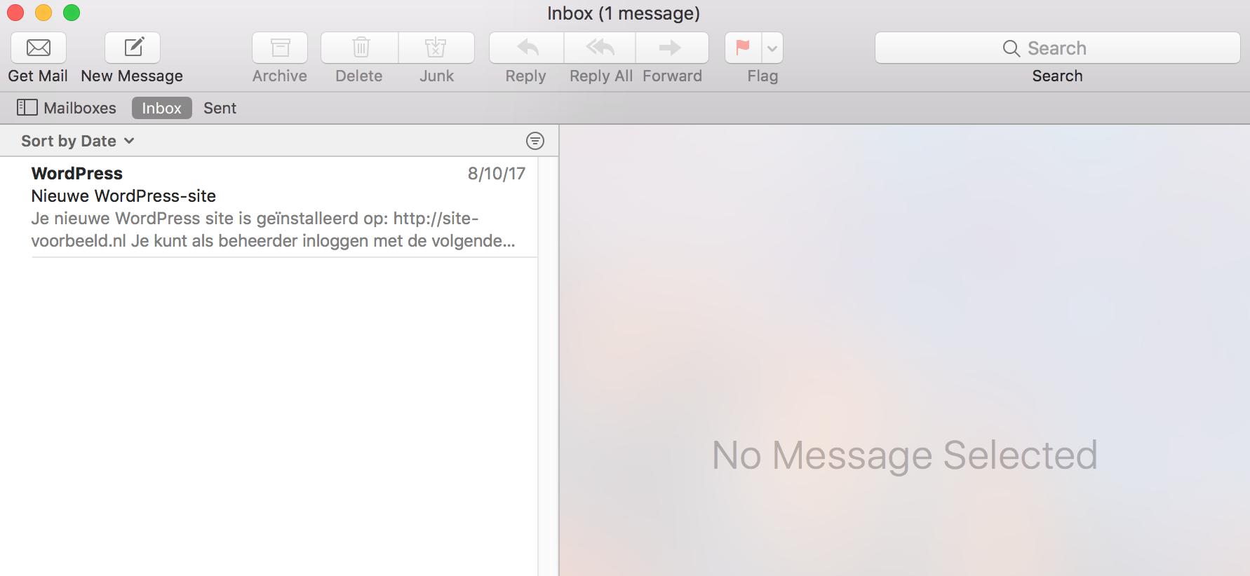 De configuratie van jouw e-mailadres is nu voltooid