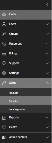 office 365 domain setup