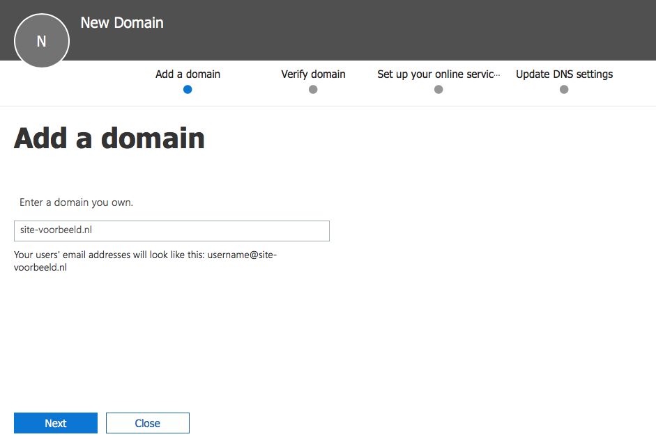office 365 add domain