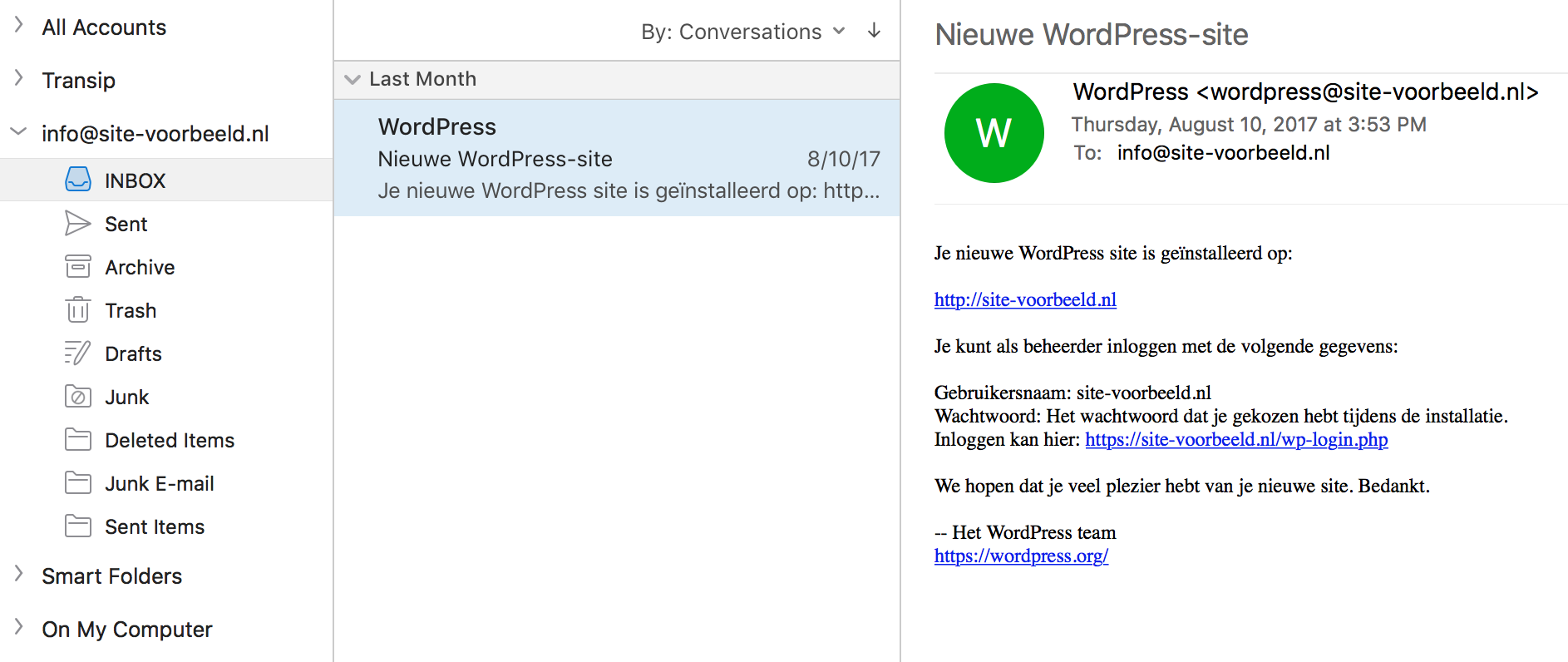 Jouw e-mailadres is nu gereed