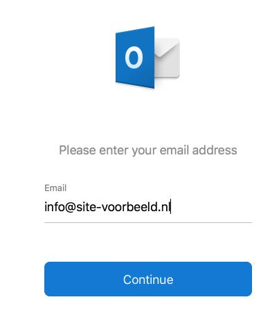 Vul je e-mailadres in