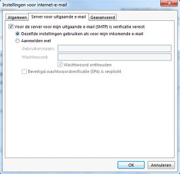 Server voor uitgaande e-mail