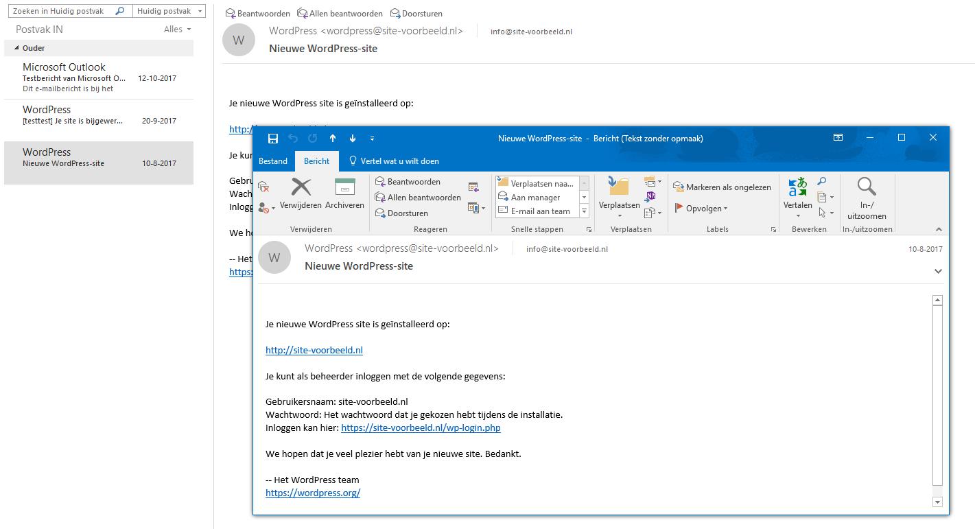 Open het e-mailbericht