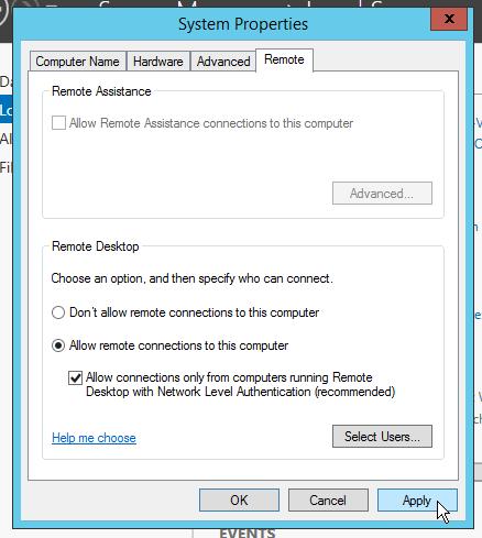 Schakel de RDP-connectie in