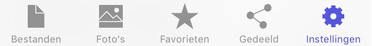 STACK iOS app Instellingen