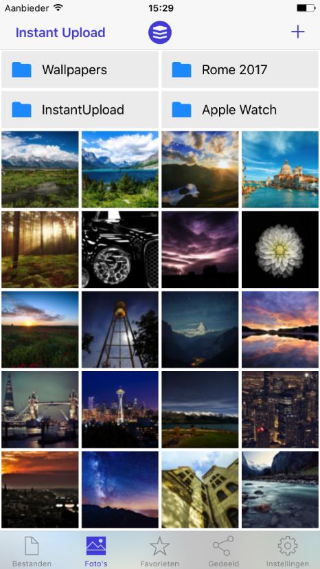 Foto's binnen de STACK app voor iOS