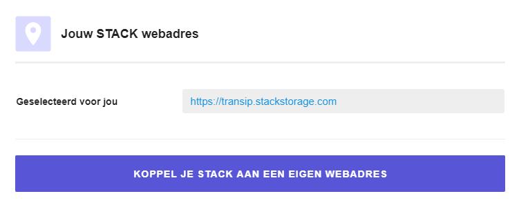 Jouw STACK webadres