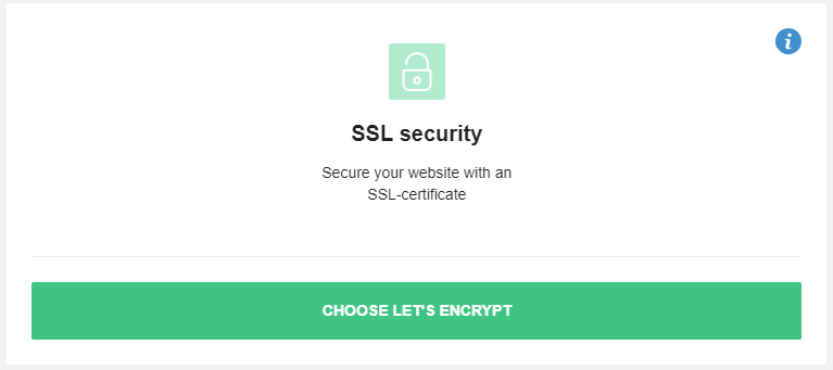 Choose Let's Encrypt