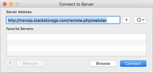 stack webdav OS X