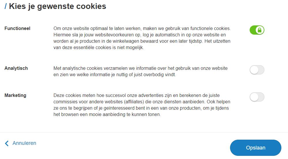 Cookie-instellingen