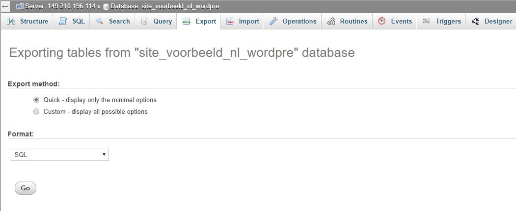 Jouw Databases beheren