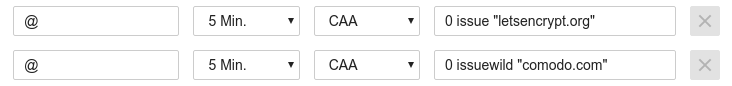 Example of a CAA-record
