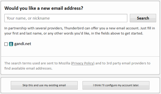 Gebruik een bestaand e-mailadres