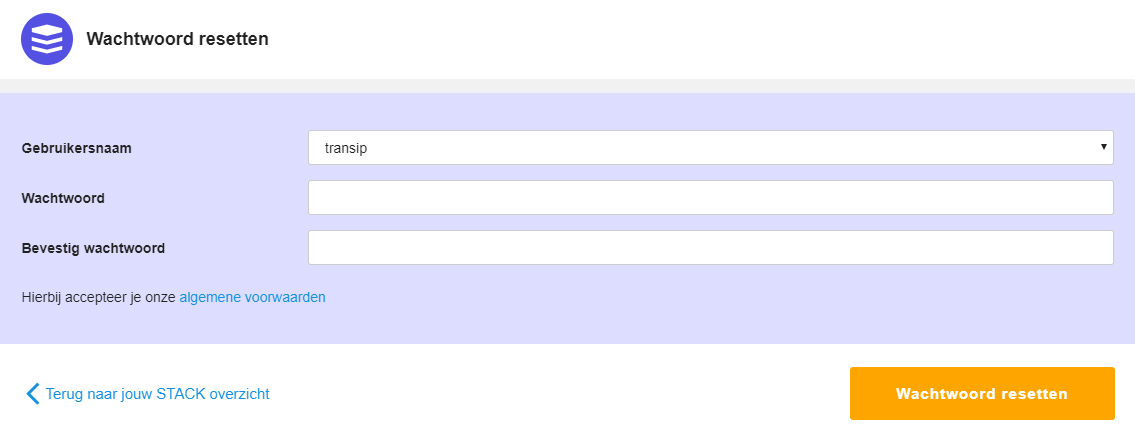 gebruikersnamen en wachtwoord