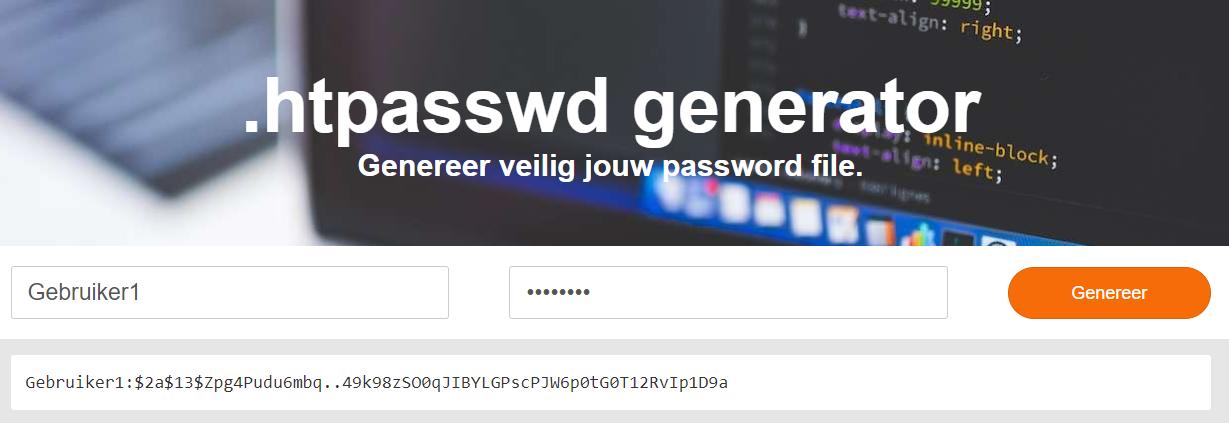 Genereer een gebruikersnaam en wachtwoord