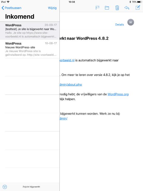 Je kunt nu je e-mail op je iPad benaderen