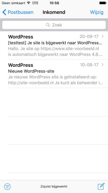Je kunt nu je e-mail op je iPhone benaderen