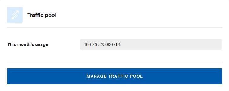 manage vps traffic pool