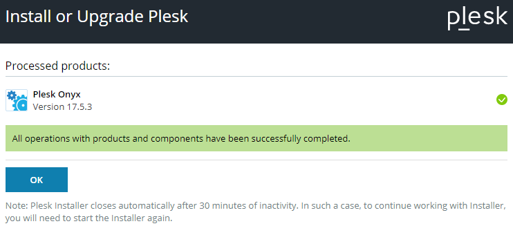 plesk components updated