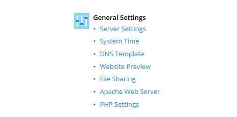 plesk general settings