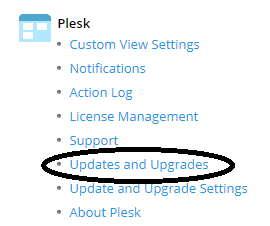 plesk updates and upgrades