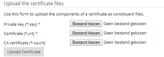 Plesk upload SSL certificate files