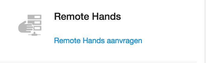afbeelding van remote hands aanvragen