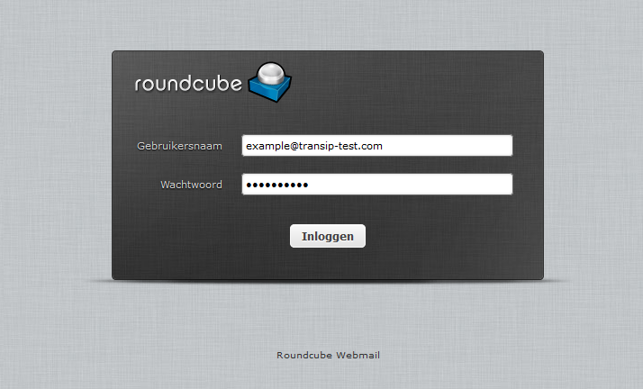 roundcube login page