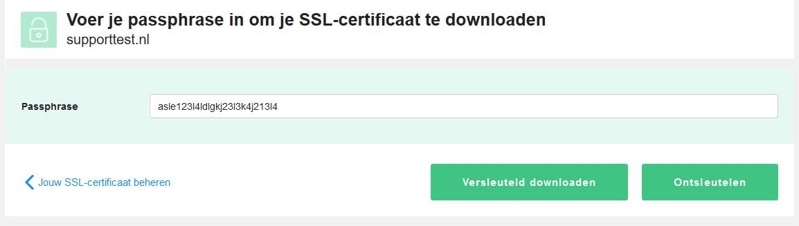 ontsleutelen SSL certificaat