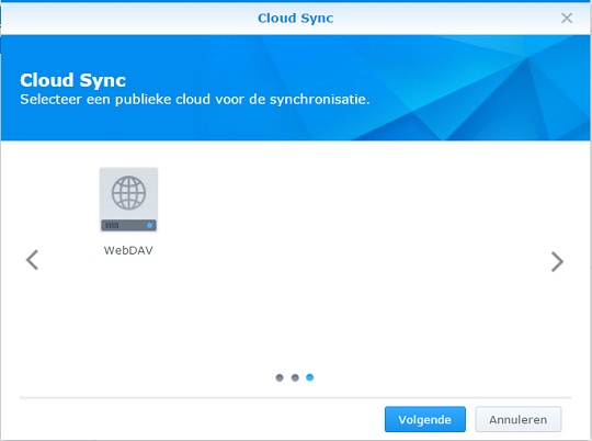 cloudsync synchroniseren met stack