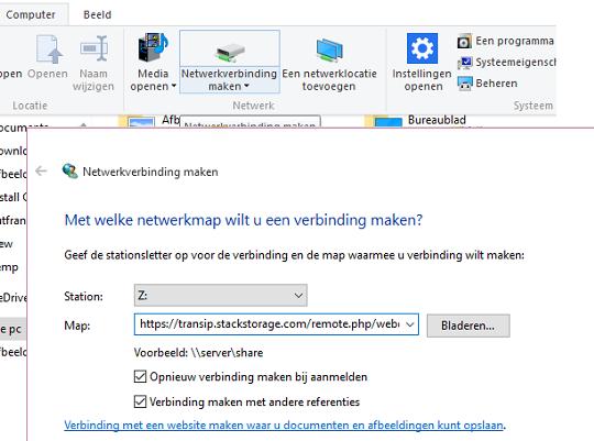stack webdav windows 10