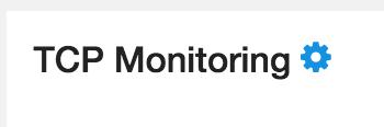 afbeeling van TCP monitoring tandwiel