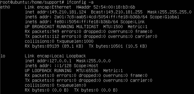 ubuntu 14.04 ifconfig output