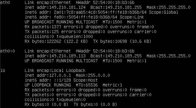 Ubuntu 14.04 ifconfig output with 2 IP addresses