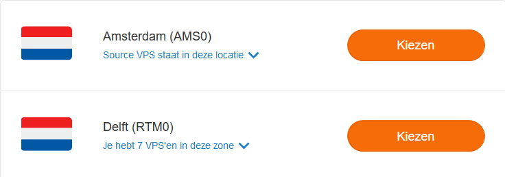 vps klonen kies een availability zone